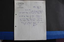 Fac-140 / Luxembourg - Bastogne, Transports J. Lepinois , 47, Rue Joseph Renquin Bastogne  / 1953 - Transport