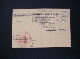 Carte Militaire- Titre De Libération Définitive Du Service Militaire - Versailles 1964 - Autres