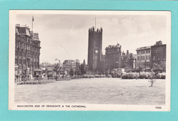 Old/Antique,?Postcard Of Deansgate And The Cathedral,Greater Manchester, England,.Posted With Stamp .Q55. - Otros