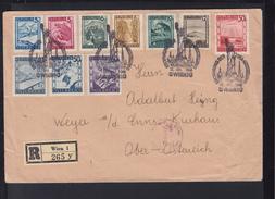 Österreich R-Brief 1948 Sonderstempel USA Ausstellung - 1945-.... 2. Republik