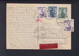 Österreich Expres-PK Wien 1949 - 1945-60 Briefe U. Dokumente