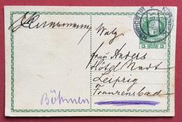 REPUBBLICA CECA  CORRESPONDENZ - KARTE  AUSTRIA 5 H DA  NEUDEK IN BÖHMEN  NEJDEK  A LIPSIA LEIPZIG IN DATA 4/6/1913 - Repubblica Ceca
