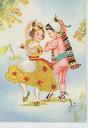 ENFANTS - LITTLE GIRL - Jolie Carte Fantaisie Brodée Enfants Espagnols VALENCIA - 2 - Embroidered