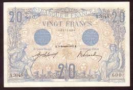 Billet 20 Francs Type BLEU Du 14 11 1912 - TTB + - 20 F 1905-1913 ''Bleu''