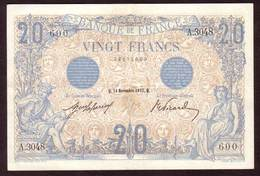 Billet 20 Francs Type BLEU Du 14 11 1912 - TTB + - 1871-1952 Gedurende De XXste In Omloop