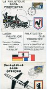 VR 233 Triptyque Philatélie Sans Frontières Berlin 12 Et POSTE AUX ARMEES 15.4.1967 - Zone Française