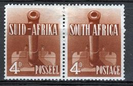 South Africa War Effort 4d Brown Pair 1941. - Stamps