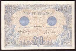 Billet 20 Francs Type BLEU Du 28 01 1913 - SUP - 1871-1952 Circulated During XXth