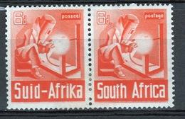 South Africa War Effort 6d Orange Pair 1941. - Stamps