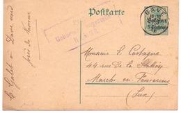 Belgique Carte Postale N° 1 Oblitérée Dave 1915 - Censure De Namur - Stamped Stationery
