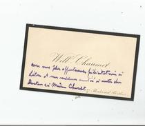 """WILLIAM CHAUMET """"WILL CHAUMET"""" (1842 BORDEAUX 1903 ST MEDARD EN JALLES) COMPOSITEUR CARTE DE VISITE AVEC PETIT MOT - Autogramme & Autographen"""