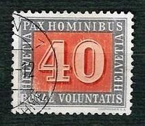 SVIZZERA 1945 - Pace - 40 C. Verde Oliva - Mi:CH 451 - 1843-1852 Poste Federali E Cantonali