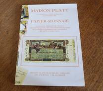 CATALOGUE A PRIX MARQUES   -  PAPIER MONNAIE - French