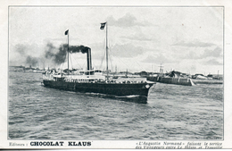 L'augustin Normand Faisant Le Service Des Voyageurs Entre Le Havre Et Trouville - Ferries