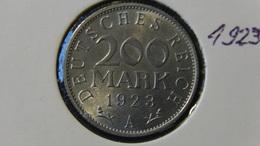 "Germany - Weimarer Republik - 1923 - 200 Mark - Mintmark ""A"" – Berlin - KM 35 - VF - Look Scans - [ 3] 1918-1933: Weimarer Republik"