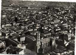 PAMIERS (Ariège) Vue Generale Aérienne Recto Verso Beaux Rimbrs 5F +15F - Pamiers