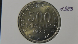 "Germany - Weimarer Republik - 1923 - 500 Mark - Mintmark ""A"" – Berlin - KM 36 - XF/VF - Look Scans - [ 3] 1918-1933: Weimarer Republik"