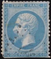 FRANCE - Scott #26 Emperor Napoleon III (1) / Used Stamp - 1853-1860 Napoleon III