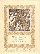 Menu - Feestmaal Moeders 75° Verjaardag - Westmalle 22 Oktober 1939 - Menus