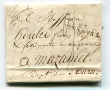 !!! MARQUE POSTALE DE BONNEVAL DE 1825 AVEC TEXTE - Storia Postale