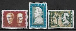 GREECE 1957 Hellas#774-776 Dionyssios Solomos, Complete MNH - Unused Stamps