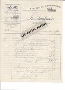 46 - Lot - BRETENOUX - Facture SAUBUSSE - Atelier De Carrosserie - Forge Et Charronnage - 1896 - REF 256 - France
