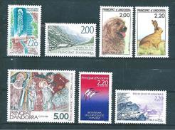 Timbres D´andorre De 1988/89  N°371 A 377  Complet  Neuf ** Parfait - Andorre Français
