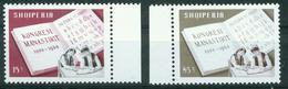 BM Albanien 1968 - MiNr 1319-1320 Seitenrand - MNH ** - Kongress Von Monastir - Albanien