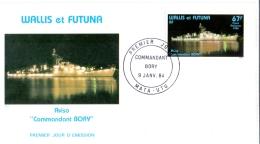 Wallis Et Futuna - Kriegsschiff / Warship  1984 (FDC) - Wallis En Futuna