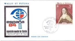 Wallis Et Futuna -  ESPANA 1984 (FDC) - Brieven En Documenten