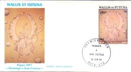 Wallis Et Futuna -  Jean Cocteau 1984 (FDC) - Wallis En Futuna
