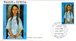 Wallis Et Futuna -  Amedeo Modigliani 1984 (FDC) - Cartas