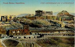 GREECE - ATHENES - VUE GENERALE DE L'ACROPOLE - Grecia
