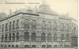 CUREGHEM-ANDERLECHT : L'Ecole De Dessin - RARE VARIANTE - Cachet De La Poste 1910 - Anderlecht
