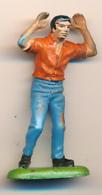 Figurine BRITAINS (1972) : Cow-boy Avec Les Mains En L'air (2 Scans) - Figurines
