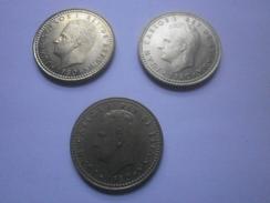 ESPAÑA  LOTE DE 3 MONEDAS 1 PESETA 1980 (*80 *81 *82) - 1 Peseta