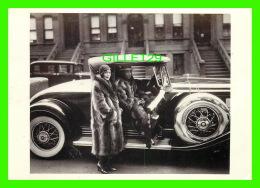 COUPLE IN RACCOON COATS, NEW YORK CITY, 1932 - PHOTO, JAMES VAN DER ZEE - FOTOFOLIO, 1985 - - Couples