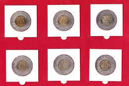 Croatia - Hrvatska , Lot 6 Pcs 25 Kuna Bimetal  All Different - Croatie