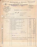 50 SOURDEVAL FACTURE 1962 Manufacture De Couverts Aiguilles Ets LETAVERNIER  Y88 - 1950 - ...