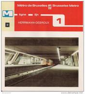 METRO DE BRUXELLES - BRUSSELSE METRO - HERRMANN-DEBROUX - Ligne - Lijn 1 (dépliant Bilingue N°50) - Non Classés