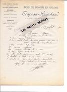 42 - Loire - L'HOPITAL-SOUS-ROCHEFORT - Facture TRAPEAU-BOUCHAND - Bois De Noyer En Grume - 1910 - REF 257 - France