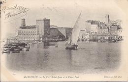 MARSEILLE   LE FORT SAINT JEAN ET LE VIEUX PORT   CARTE PRECURSEUR - Vieux Port, Saint Victor, Le Panier