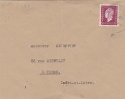 FRANCE :  Dulac 699  15 Frs Violet Sur Lettre - Marcophilie (Lettres)