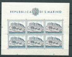 San Marino,Blocchi E Foglietti, Sassone 8 ** (Sass 400 E) - Blocchi & Foglietti