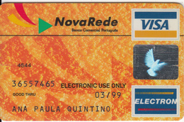 PORTUGAL - NovaRede, Banco Comercial Portugues, Visa Electron, Used - Credit Cards (Exp. Date Min. 10 Years)