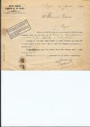 Ref 10/ Tunisie, Bizerte, Crédit Foncier D'Algérie Et De Tunisie, 1922, - Invoices & Commercial Documents