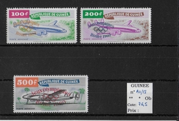 GUINEE - JEUX OLYMPIQUES - YVERT PA N°11/13 ** - COTE = 76.50 EURO -