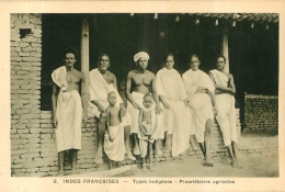 INDES FRANCAISES  TYPES INDIGENES PROPRIETAIRES AGRICOLES  EDITION BRAUN - Inde