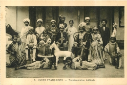 INDES FRANCAISES  REPRESENTATION THEATRALE  EDITION BRAUN - Inde