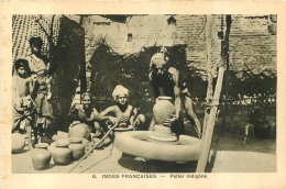 INDES FRANCAISES  POTIER INDIGENE  EDITION BRAUN - Inde